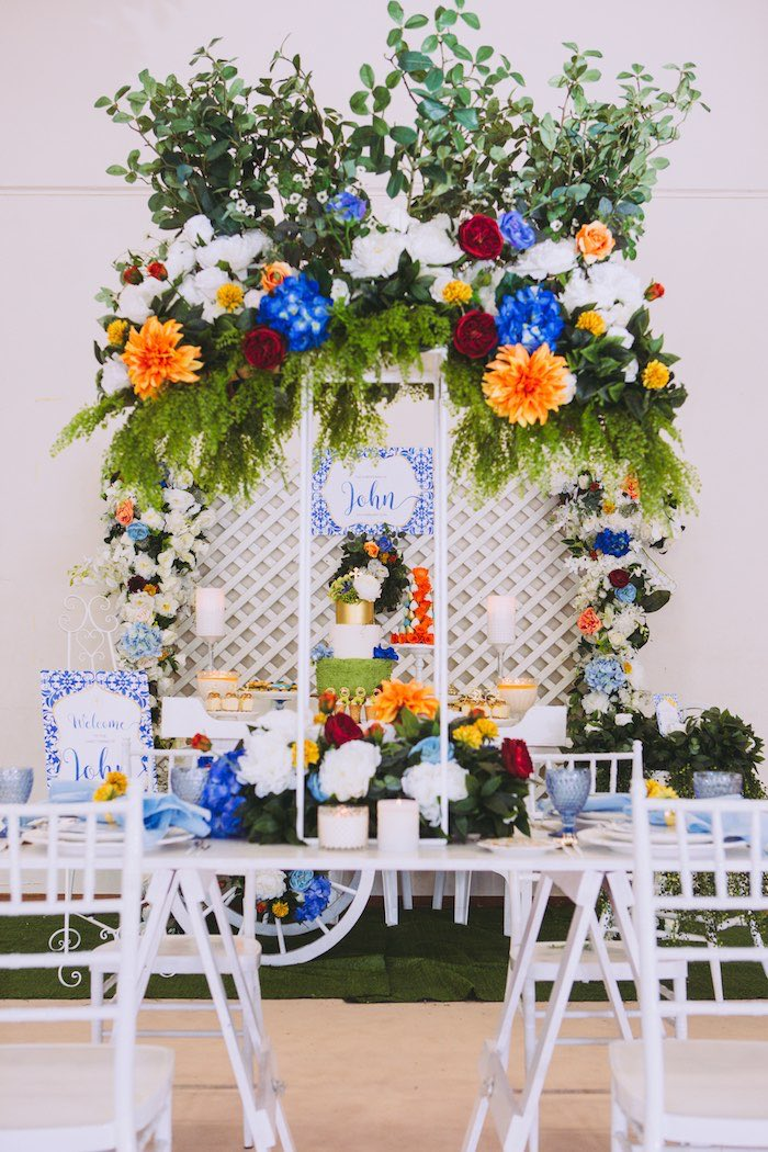 Floral Christening Party on Kara's Party Ideas | KarasPartyIdeas.com (3)