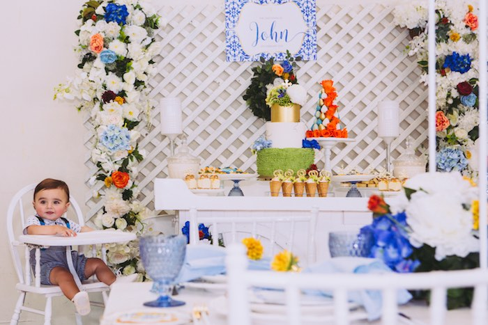 Floral Christening Party on Kara's Party Ideas | KarasPartyIdeas.com (24)