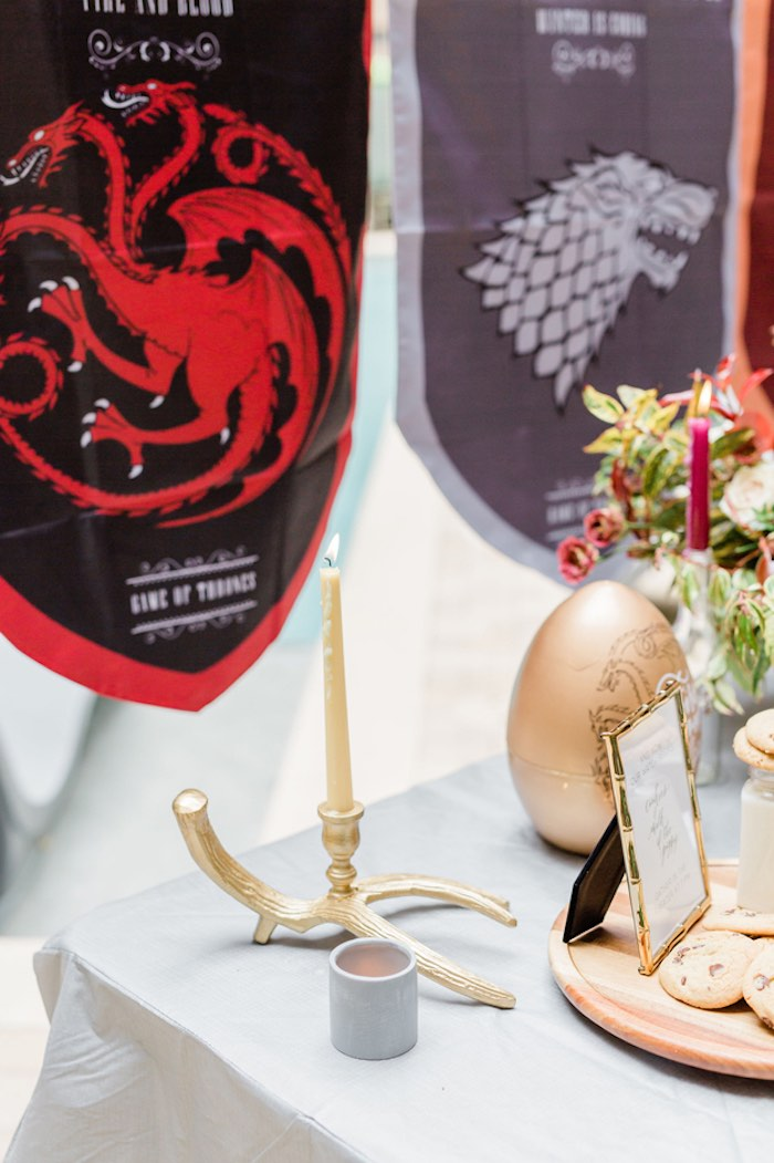 Game of Thrones Party Table Detail from a Game of Thrones Wrap Party on Kara's Party Ideas | KarasPartyIdeas.com (17)