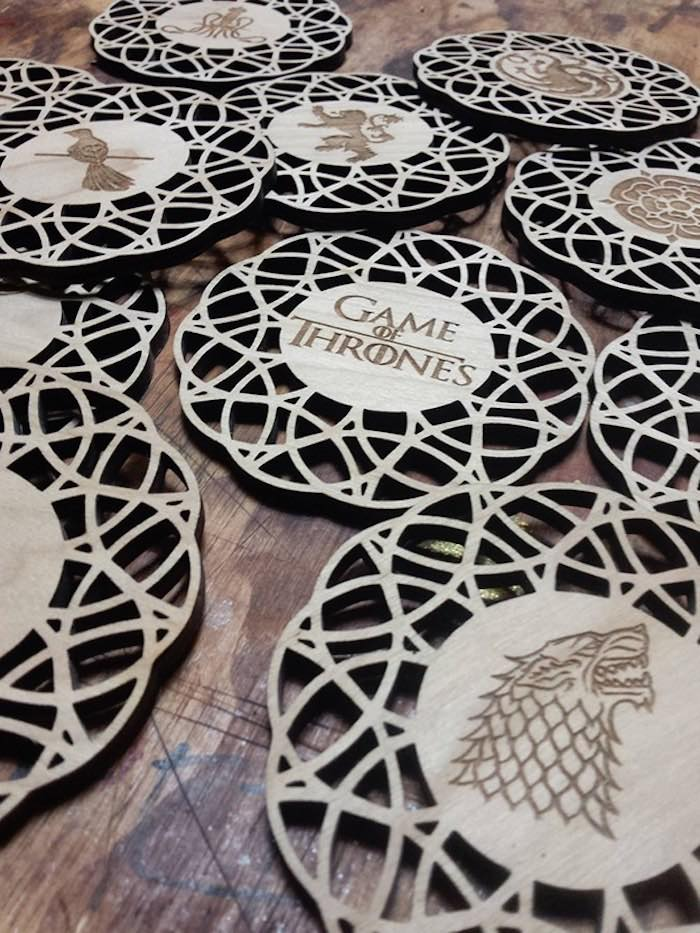 Game of Thrones Coasters from a Game of Thrones Wrap Party on Kara's Party Ideas | KarasPartyIdeas.com (4)