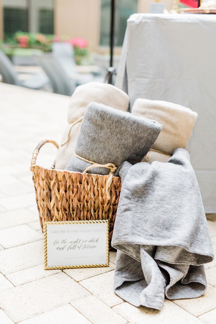 Blanket Basket from a Game of Thrones Wrap Party on Kara's Party Ideas | KarasPartyIdeas.com (26)