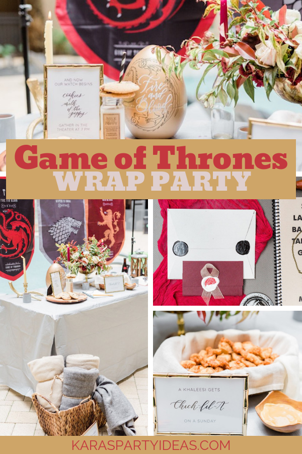 Game of Thrones Wrap Party via KarasPartyIdeas - KarasPartyIdeas.com