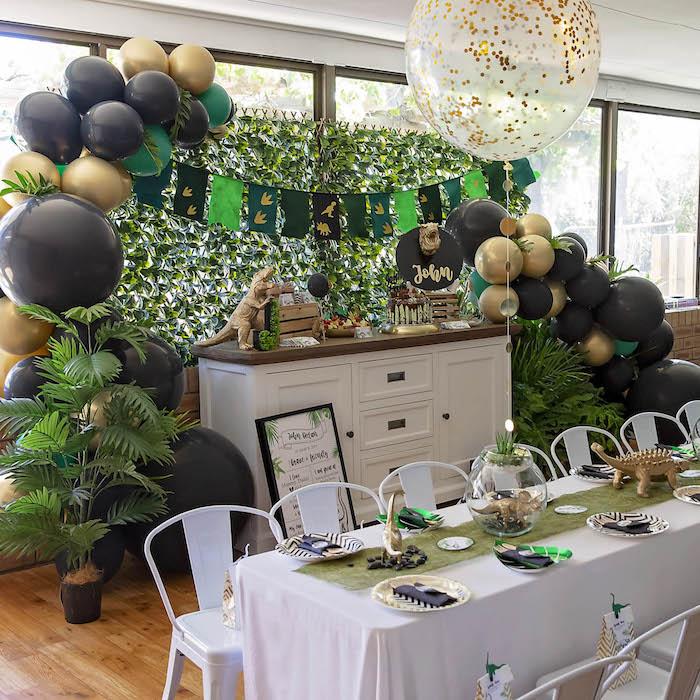 Glamorous Dinosaur Birthday Party on Kara's Party Ideas | KarasPartyIdeas.com (12)