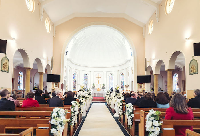 Church Wedding from a Glamorous Luxury Lebanese Wedding on Kara's Party Ideas | KarasPartyIdeas.com (20)