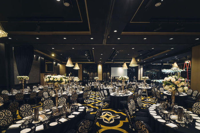 Black and White Guest Tables from a Glamorous Luxury Lebanese Wedding on Kara's Party Ideas | KarasPartyIdeas.com (18)