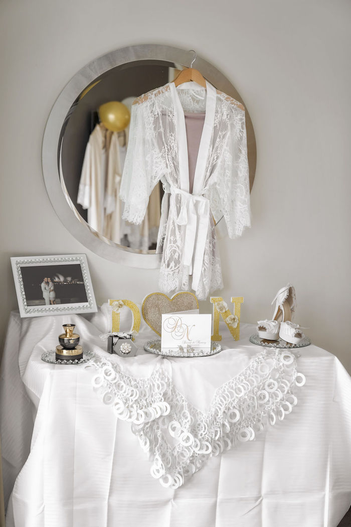 Bridal Wedding Attire from a Glamorous Luxury Lebanese Wedding on Kara's Party Ideas | KarasPartyIdeas.com (30)