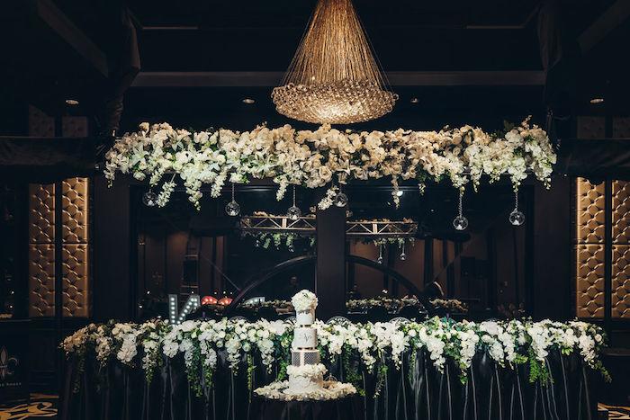 Cake Table from a Glamorous Luxury Lebanese Wedding on Kara's Party Ideas | KarasPartyIdeas.com (10)