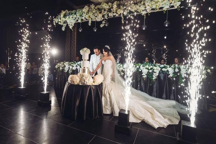 Cake Table from a Glamorous Luxury Lebanese Wedding on Kara's Party Ideas | KarasPartyIdeas.com (9)