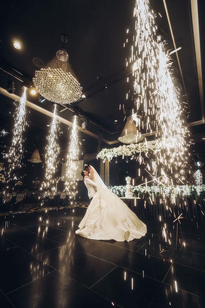Sparkler Dance Floor from a Glamorous Luxury Lebanese Wedding on Kara's Party Ideas | KarasPartyIdeas.com (6)