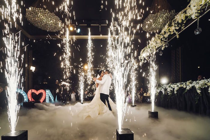 Sparkler Dance Floor from a Glamorous Luxury Lebanese Wedding on Kara's Party Ideas | KarasPartyIdeas.com (4)
