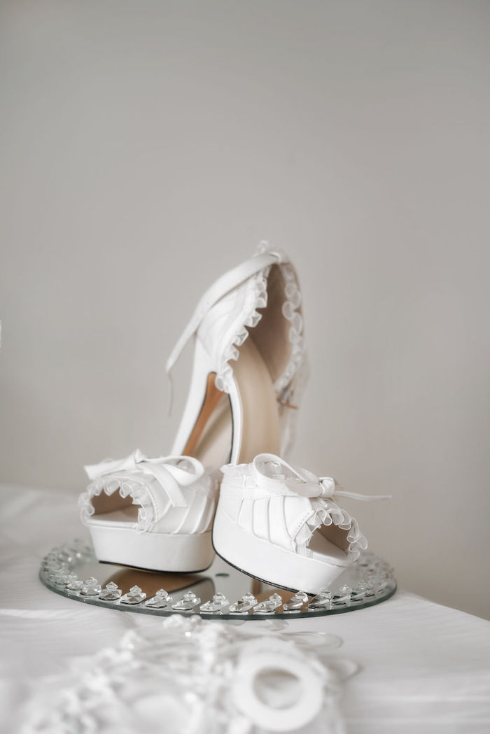 Bride's Wedding Shoes from a Glamorous Luxury Lebanese Wedding on Kara's Party Ideas | KarasPartyIdeas.com (28)