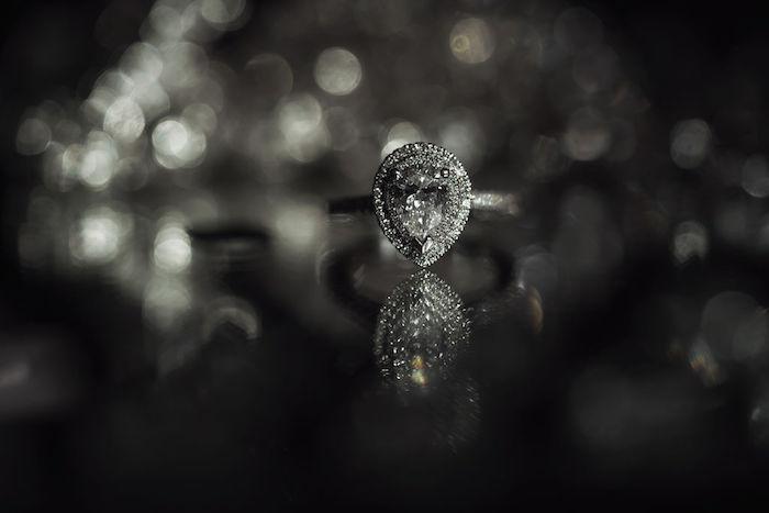 Teardrop Diamond Ring from a Glamorous Luxury Lebanese Wedding on Kara's Party Ideas | KarasPartyIdeas.com (27)