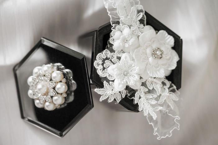 Pearl Brooch from a Glamorous Luxury Lebanese Wedding on Kara's Party Ideas | KarasPartyIdeas.com (26)