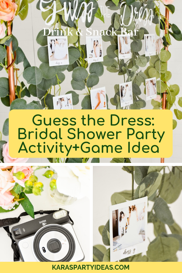 Guess The Dress Bridal Shower Party Activity+Game Idea via KarasPartyIdeas - KarasPartyIdeas.com
