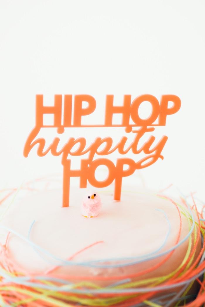 Hip Hop Hippity Hop Cake Topper from a Hip Hop Easter Dance Party Play Date on Kara's Party Ideas | KarasPartyIdeas.com (36)