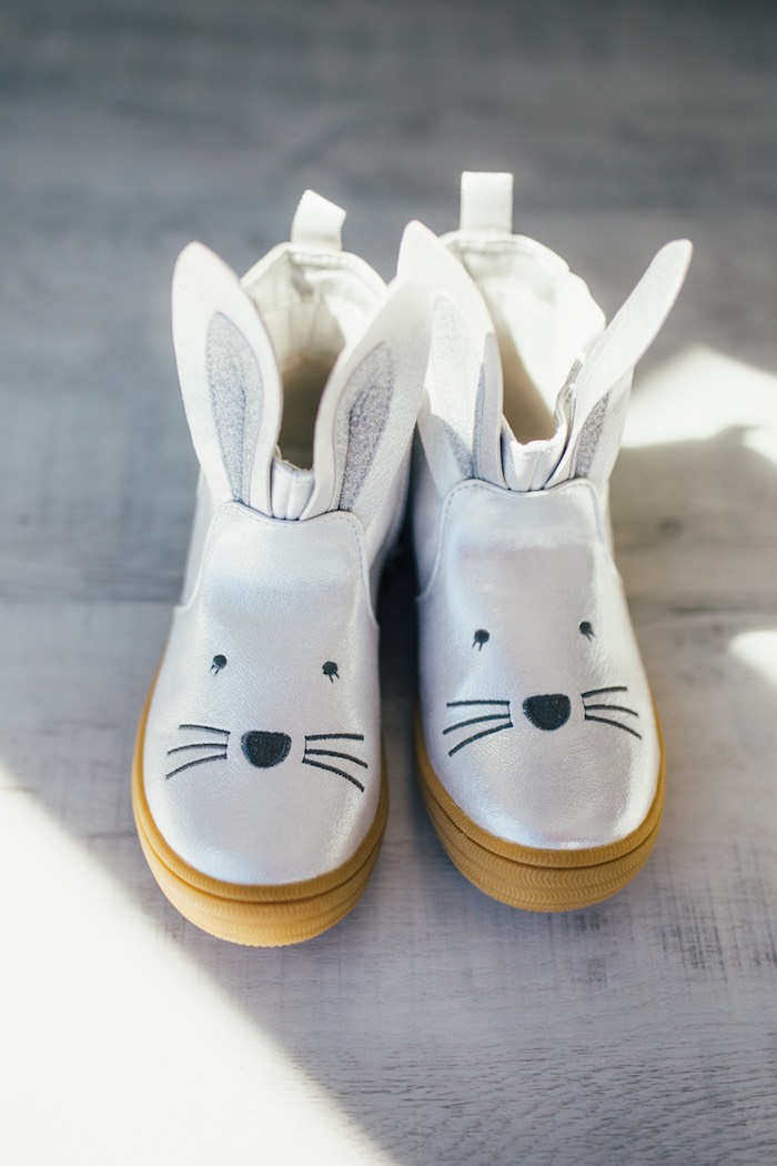 Bunny Shoes from a Hip Hop Easter Dance Party Play Date on Kara's Party Ideas | KarasPartyIdeas.com (30)