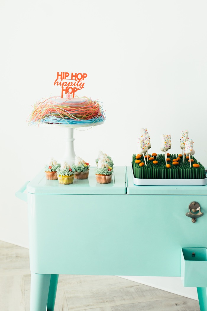 Hip Hop Sweet Table from a Hip Hop Easter Dance Party Play Date on Kara's Party Ideas | KarasPartyIdeas.com (27)