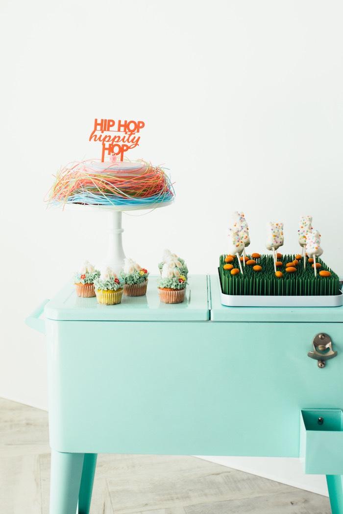 Hip Hop Sweet Table from a Hip Hop Easter Dance Party Play Date on Kara's Party Ideas | KarasPartyIdeas.com (27)