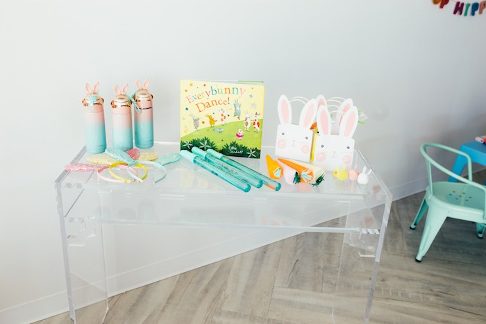 Easter Party Favor Table from a Hip Hop Easter Dance Party Play Date on Kara's Party Ideas | KarasPartyIdeas.com (45)