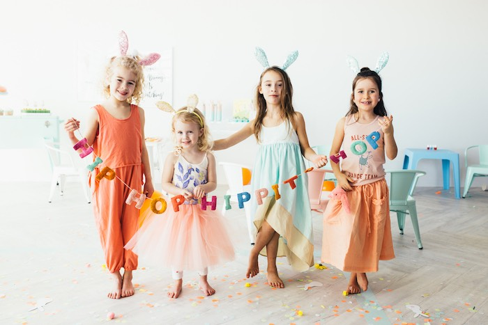 Hip Hop Hippity Hop Banner from a Hip Hop Easter Dance Party Play Date on Kara's Party Ideas | KarasPartyIdeas.com (10)