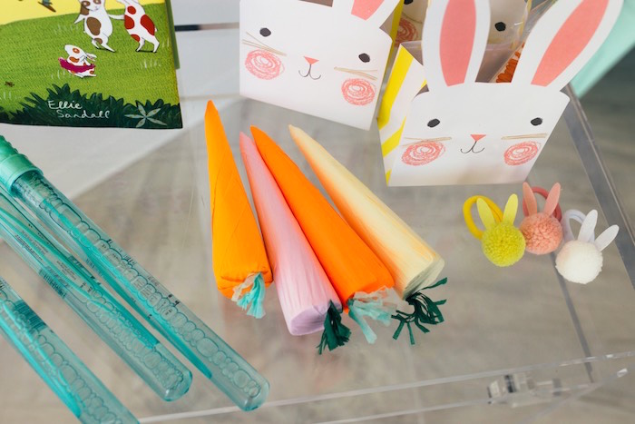 Carrot Favor Cones from a Hip Hop Easter Dance Party Play Date on Kara's Party Ideas | KarasPartyIdeas.com (9)