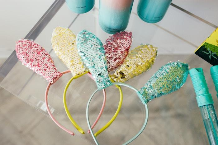 Sequin Bunny Ears from a Hip Hop Easter Dance Party Play Date on Kara's Party Ideas | KarasPartyIdeas.com (7)
