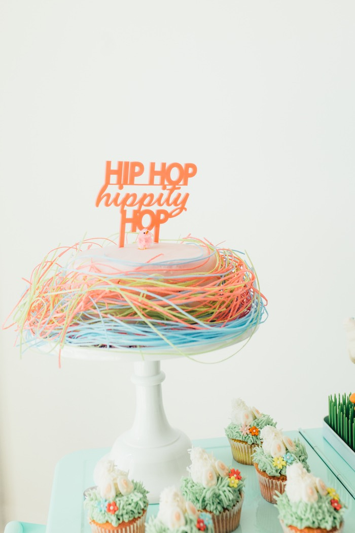 Hip Hop Hippity Hop Easter Cake from a Hip Hop Easter Dance Party Play Date on Kara's Party Ideas | KarasPartyIdeas.com (42)