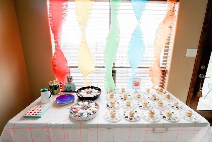 Rainbow Party Table from a Holi Inspired Color War Birthday Party on Kara's Party Ideas | KarasPartyIdeas.com (17)