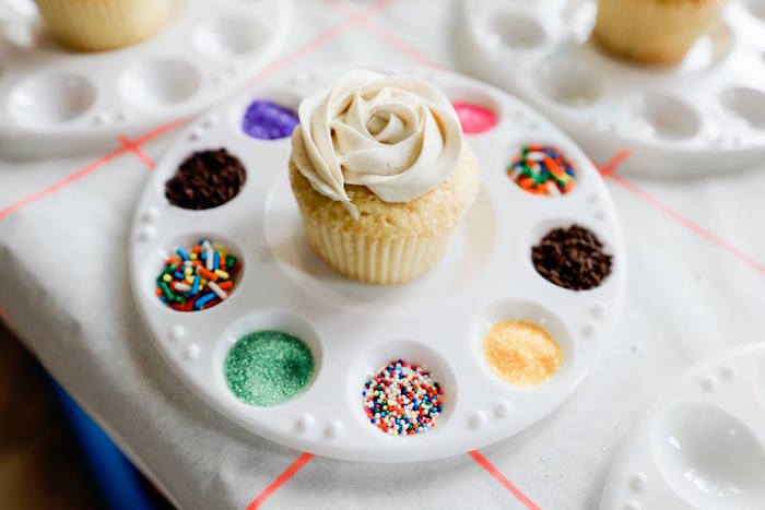 Cupcake Sprinkle Palette from a Holi Inspired Color War Birthday Party on Kara's Party Ideas | KarasPartyIdeas.com (16)