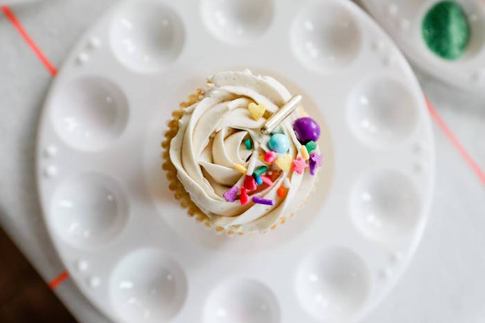 Sprinkled Cupcake from a Holi Inspired Color War Birthday Party on Kara's Party Ideas | KarasPartyIdeas.com (13)