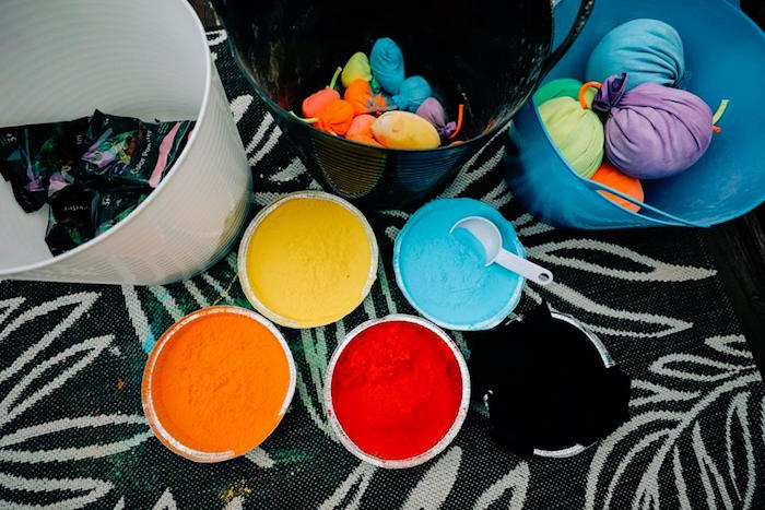 Color Cups from a Holi Inspired Color War Birthday Party on Kara's Party Ideas | KarasPartyIdeas.com (31)