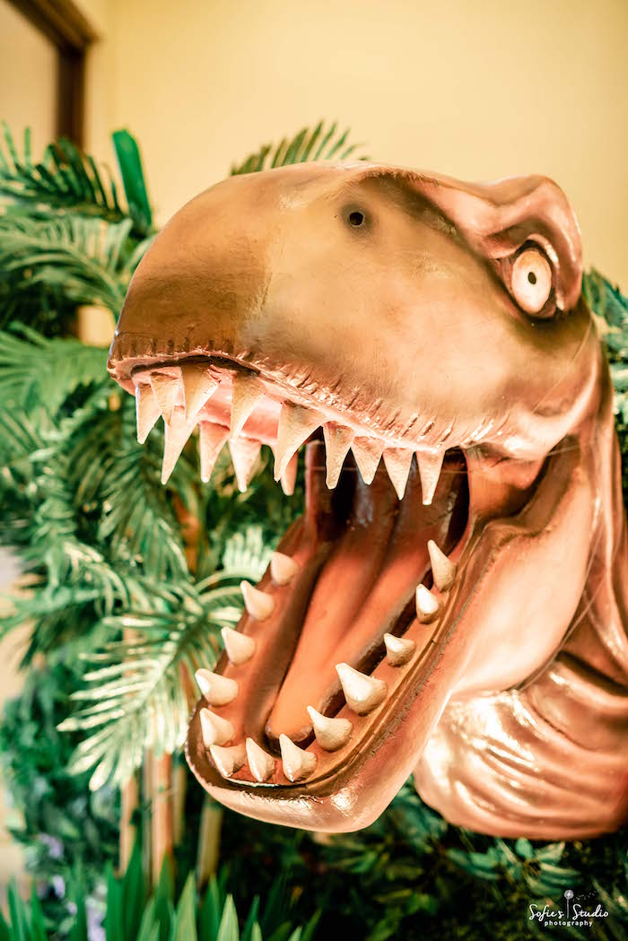 Roaring T-Rex from a Jurassic World Birthday Party on Kara's Party Ideas | KarasPartyIdeas.com (18)