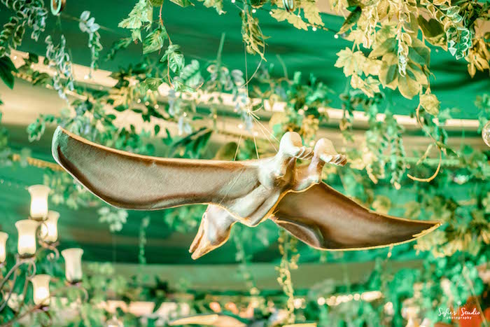 Flying Pterodactyl Ceiling from a Jurassic World Birthday Party on Kara's Party Ideas | KarasPartyIdeas.com (8)