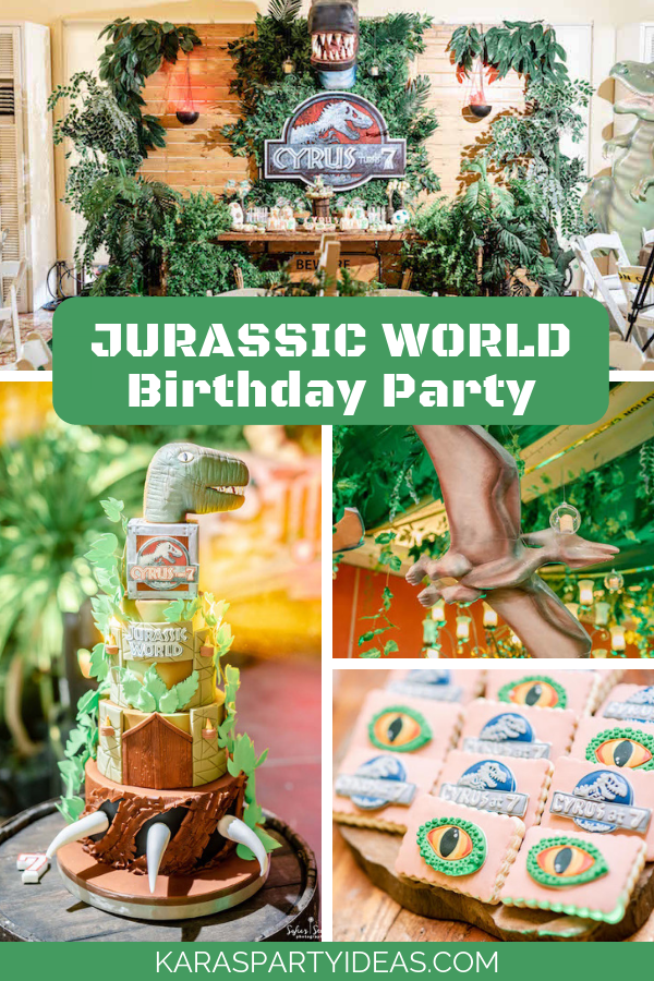 Jurassic World Birthday Party Via Karas Ideas