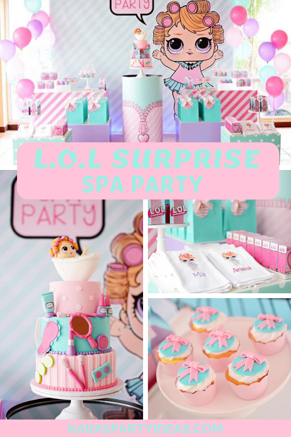 L.O.L Surprise Spa Party via Kara's Party Ideas - KarasPartyIdeas.com