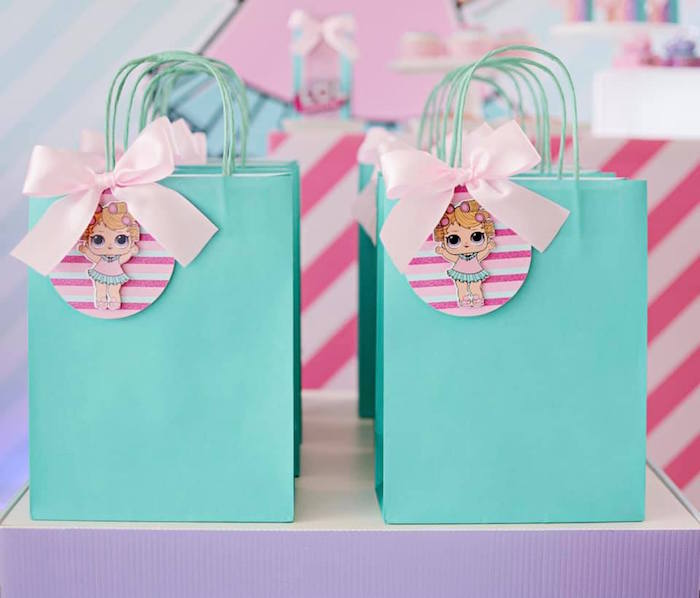 L.O.L. Surprise Gift Bags from an L.O.L. Surprise Spa Party on Kara's Party Ideas | KarasPartyIdeas.com (10)