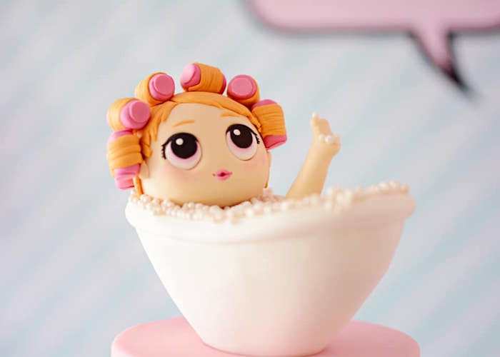 Bath Girl Cake Topper from an L.O.L. Surprise Spa Party on Kara's Party Ideas | KarasPartyIdeas.com (9)