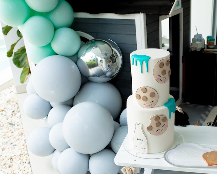 Cookies and Milk Cake from a Little Chef Milk Bar Party on Kara's Party Ideas | KarasPartyIdeas.com (23)