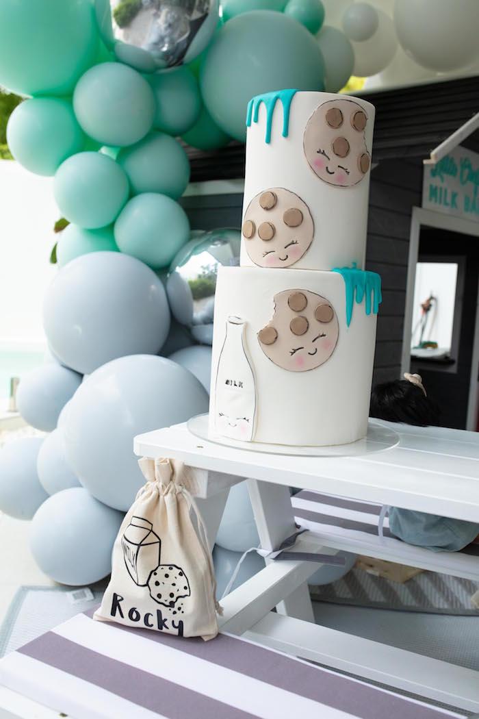 Cookies and Milk Bar from a Little Chef Milk Bar Party on Kara's Party Ideas | KarasPartyIdeas.com (18)