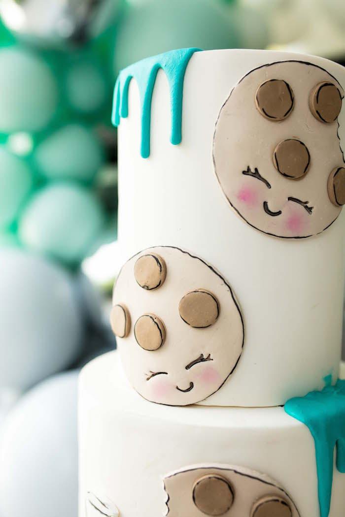 Cookies & Milk Cake from a Little Chef Milk Bar Party on Kara's Party Ideas | KarasPartyIdeas.com (30)