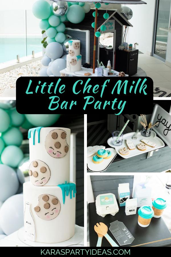 Little Chef Milk Bar Party via Kara's Party Ideas - KarasPartyIdeas.com