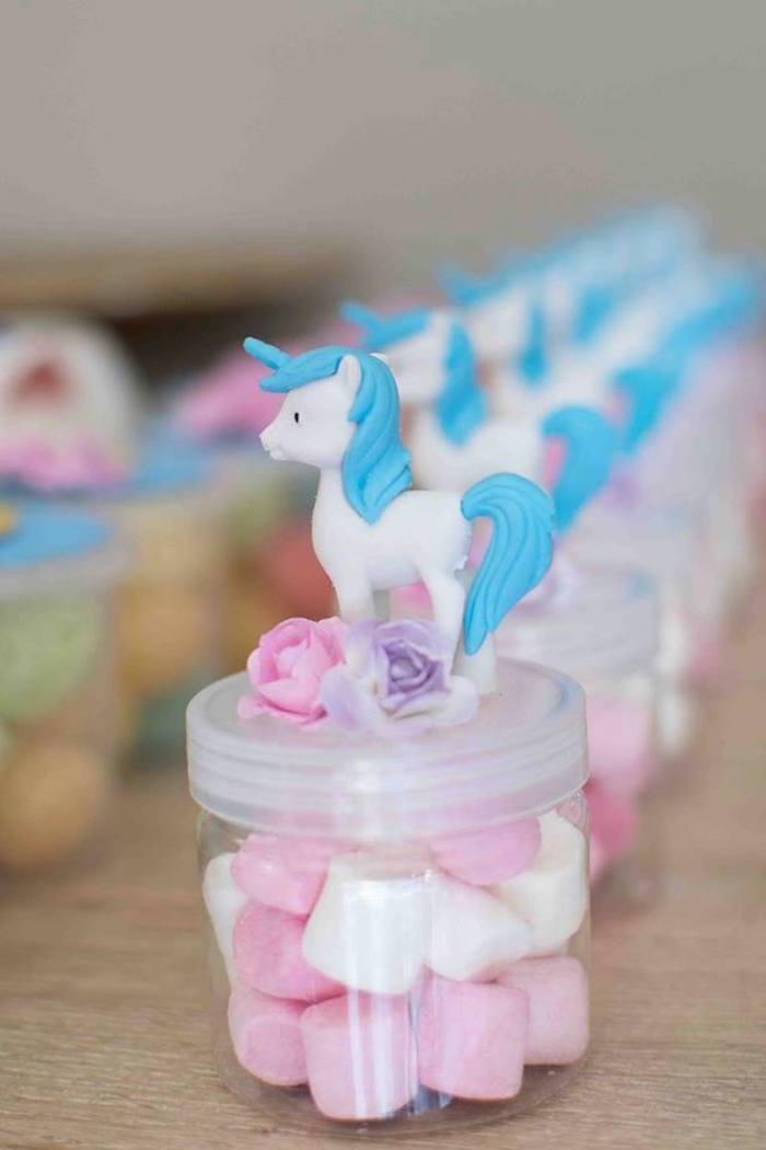 Unicorn Candy Favor Dish from aMagical Unicorn Birthday Party on Kara's Party Ideas | KarasPartyIdeas.com (7)