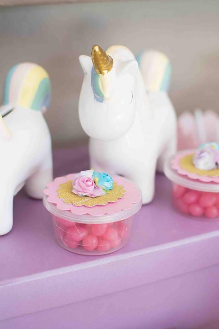 Unicorn Piggy Banks from a Magical Unicorn Birthday Party on Kara's Party Ideas | KarasPartyIdeas.com (23)