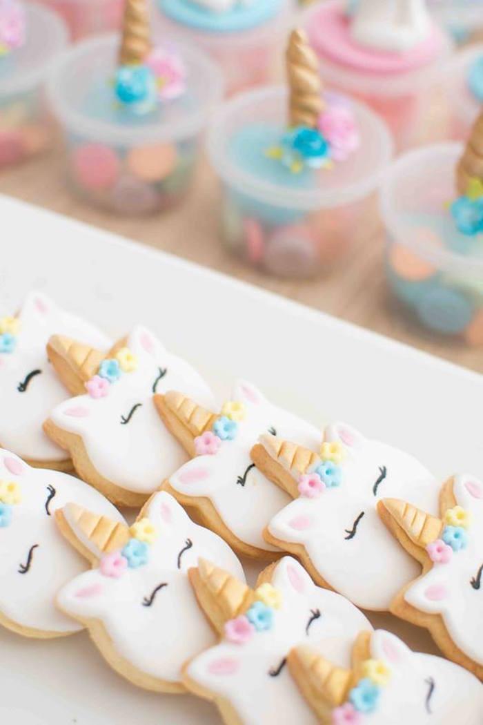 Unicorn Cookies from a Magical Unicorn Birthday Party on Kara's Party Ideas | KarasPartyIdeas.com (17)