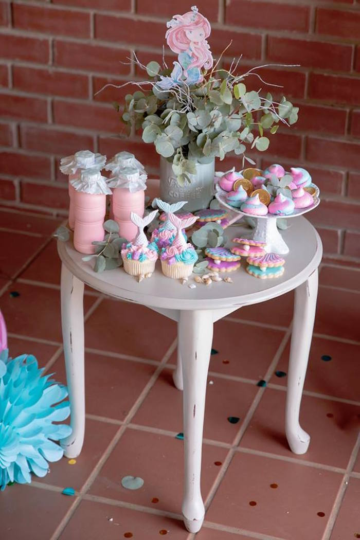 Under the Sea Sweet Table from a Mermaid Birthday Party on Kara's Party Ideas | KarasPartyIdeas.com (24)