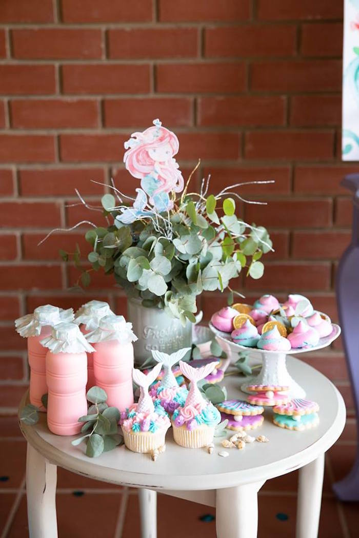 Under the Sea Sweet Table from a Mermaid Birthday Party on Kara's Party Ideas | KarasPartyIdeas.com (32)