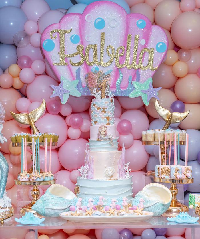 Mermaid Under the Sea Birthday Party on Kara's Party Ideas | KarasPartyIdeas.com (19)