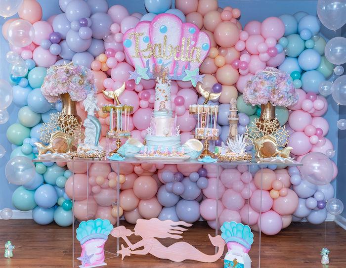 Mermaid Under the Sea Birthday Party on Kara's Party Ideas | KarasPartyIdeas.com (16)