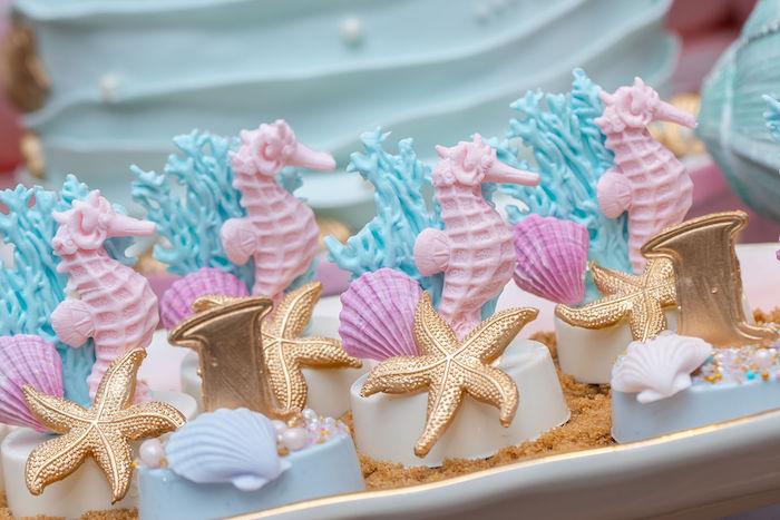 Under the Sea Oreos from a Mermaid Under the Sea Birthday Party on Kara's Party Ideas | KarasPartyIdeas.com (14)