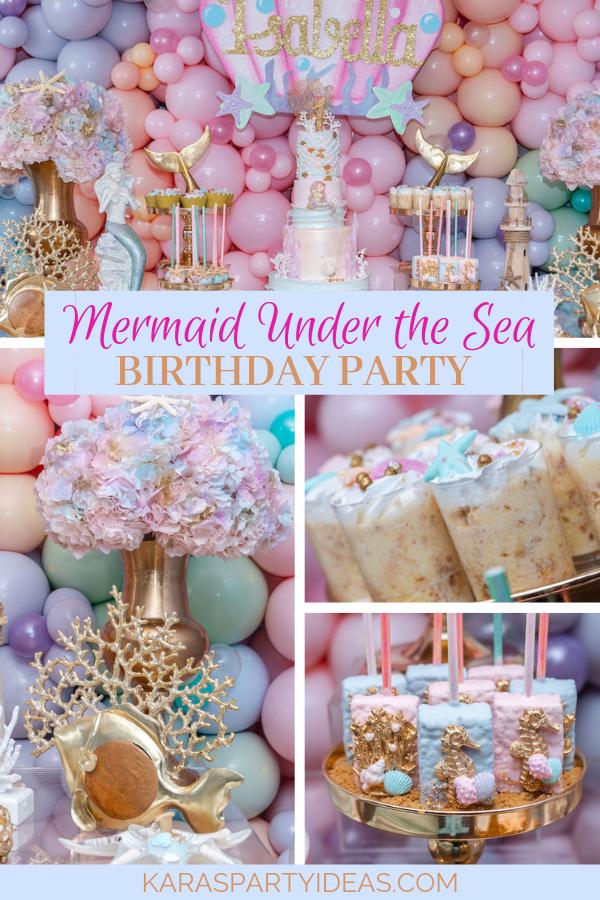 Mermaid Under the Sea Birthday Party via Kara's Party Ideas - KarasPartyIdeas.com